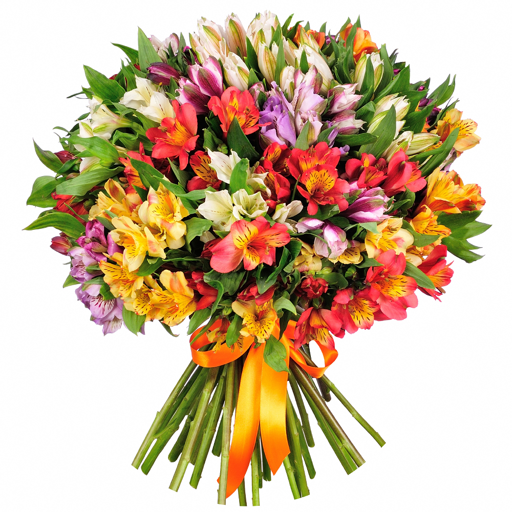 Букеты из альстромерий, цветов оптом